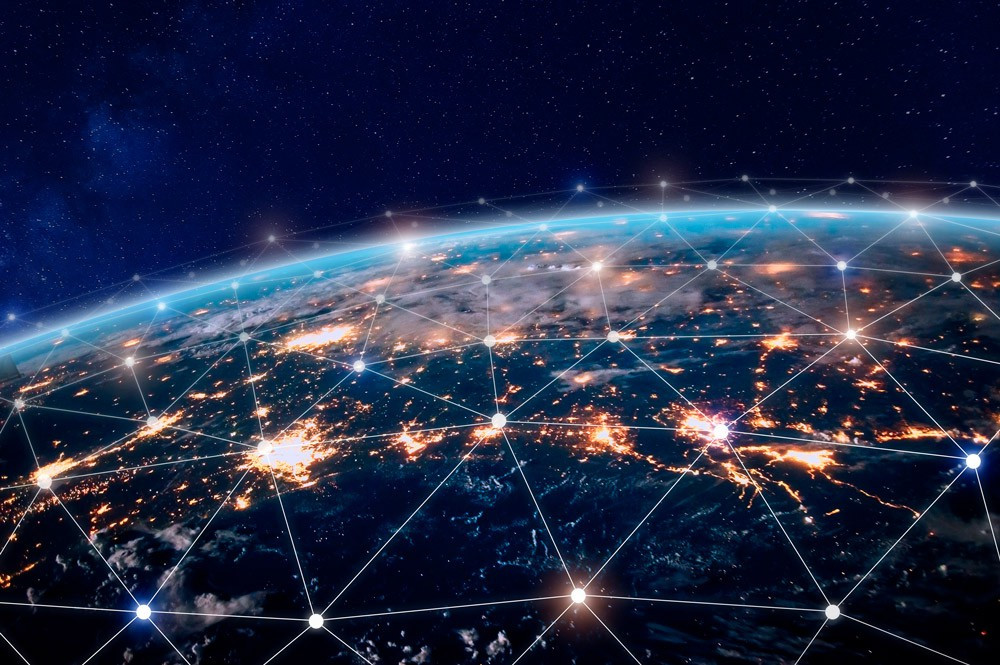 Global World Telecommunication network Image